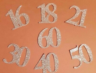NUMBER Die Cut Outs Shapes Topper Birthday Anniversary wedding cards cake