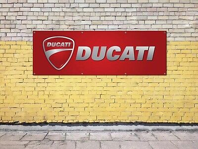 DUCATI MOTORBIKE logo sign for workshop, garage, office or showroom pvc banner