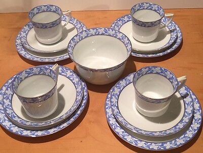 ART DECO EPIAG ROYAL CZECHOSLOVAKIA Blue TEA SET