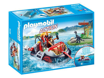 9435 Playmobil Dino Hovercraft with Underwater Motor Action Suitable for ages 4