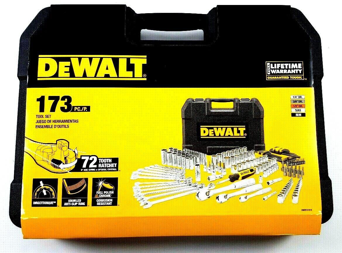 DeWalt 173 pc Polish Chrome Mechanics Tool Set w/ Hard Case