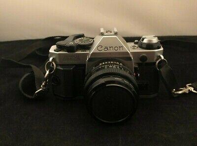 Canon AE-1 Program 35mm Film Manual Camera w/ 50mm F1.8 Lens