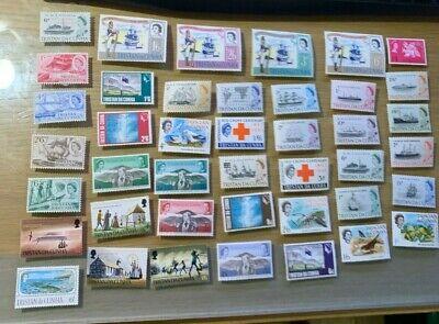B1332 QEII MINT TRISTAN de CUNA Stamps x 52 NO RESERVE