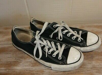 Converse Chuck Taylor All Star Low Top Shoe Black Men's 8 Woman's 10