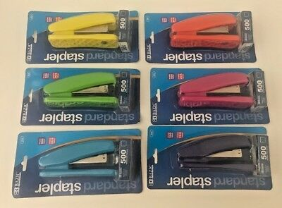 Bazic Standard 266 Stapler-500 Staples Included-6 Bright Colors