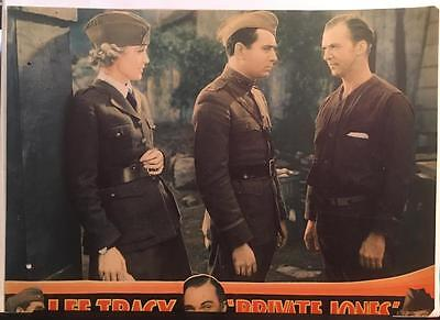 Lee Tracy Gloria Stuart Donald Cook WWI Private Jones 1933 lobby card 1270