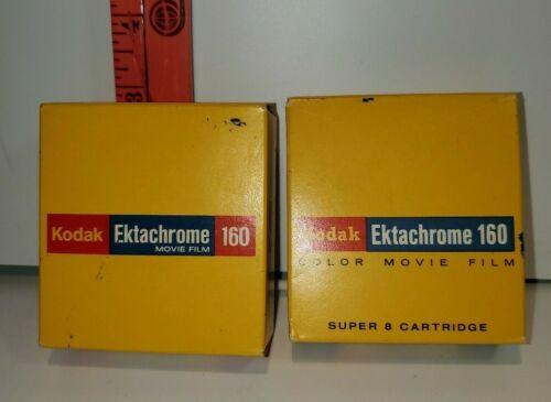 2 BOXES of VINTAGE KODAK EKTACHROME 160 MOVIE FILM TYPE A 50FT SEALED 1973