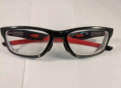 Oakley Crosslink OX8090-0353 Polished Ink Black Red 53-17-137 Eye Glasses Frames