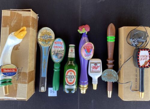 Lot Of 8 Draft Beer Tap Handles, Unique Group, Great Price!