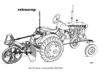 Mccormick Cub-151 Manual Farmall Cub Rear Semi-mount Disc Turning Plow Ih