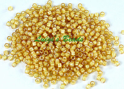(11/0 TOHO Treasures Glass Seed Beads #948- Jonquil/White Lined 5g)