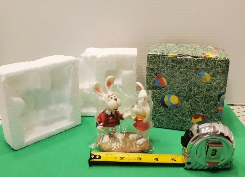 """Rare ENESCO Peter Cottontail """"Col. Bunny with Peter"""" Figurine w/ Box"""