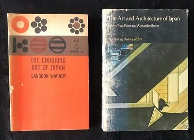 Vintage Japanese ART History and ARCHITECTURE Books: Lot of 2 1952/1981