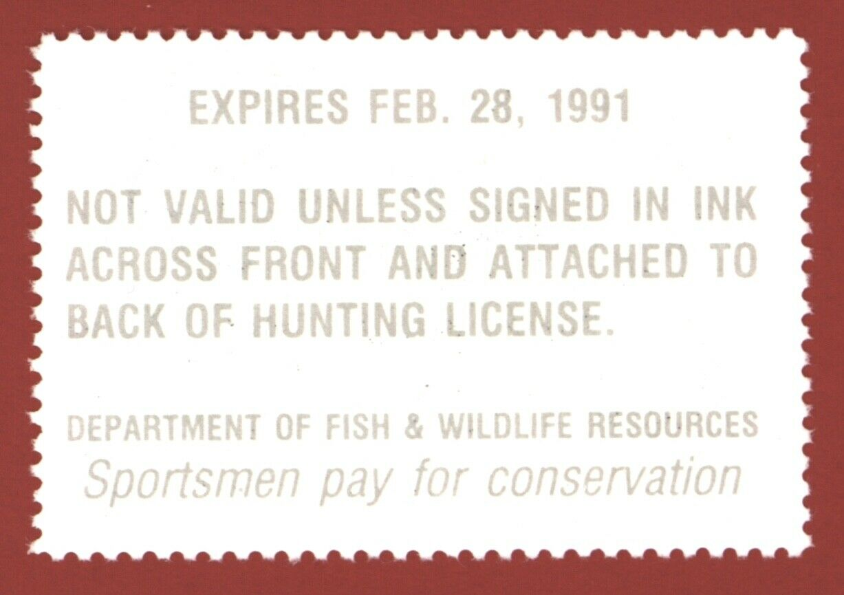 CLEARANCE KY06 1990 Kentucky Waterfowl Stamp - $3.35