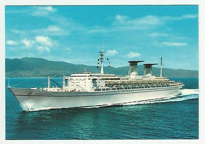 tn MICHELANGELO...Ocean Liner ..Italian Line Vintage postcard 1970 (new )