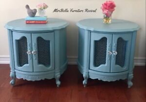 French Provincial Drum/ Side/Accent Tables