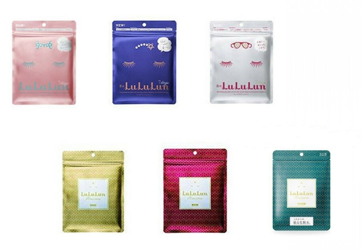 2019 Face Mask LuLuLun 7 sheets Clear Moisture Dry wrinkles