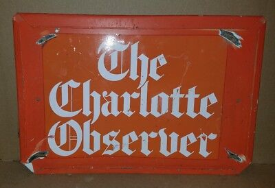 The Charlotte Observer Sign 17 X 11 5