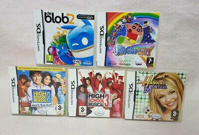STOCK LOTTO 5 GIOCHI NINTENDO DS/3DS/NEW3DS/2DS/NEW2DS USATI - DE BLOB 2 ECC.