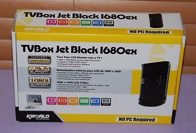 KWorld External TV Box Jet Balck 1680ex KW-SA220 (Turn LCD Monitor to TV) -- NEW