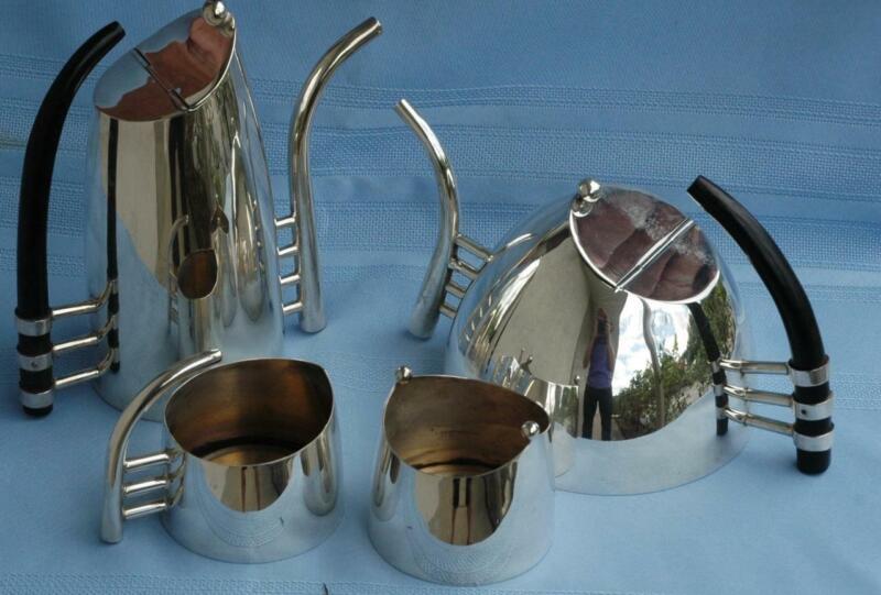 Rare Mid Century Tea & Coffee Service Attributed to Lino Sabattini Fenice Style
