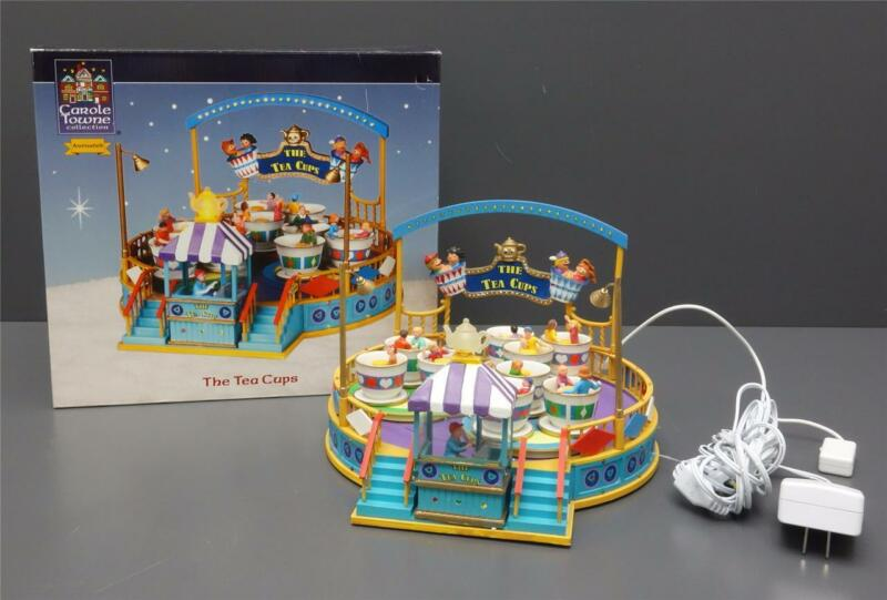 Lemax The Tea Cups Animated Carnival Ride Lights Sounds Carole Towne Collection