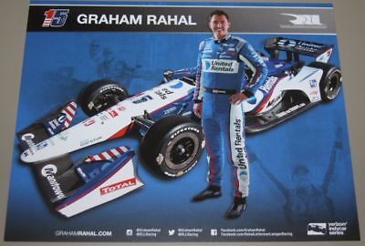 2018 Graham Rahal United Rentals Honda Dallara Indy Car Postcard