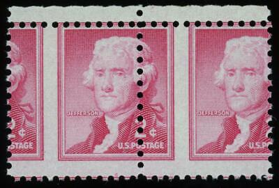EFO #1055 Var. 2¢ Thomas Jefferson Misperfed Pair MNH
