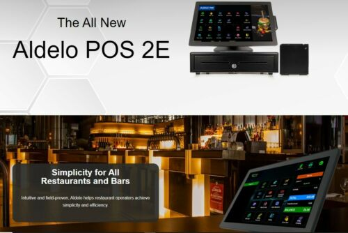 ALDELO POS 2E SOFTWARE FOR RESTAURANTS POS SOFTWARE  with Printer NEW