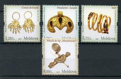 Moldova 2017 MNH National History Museum Jewellery 4v Set Museums Stamps