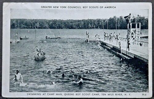 Ten Mile River Scout Camp Swimming at Camp Man