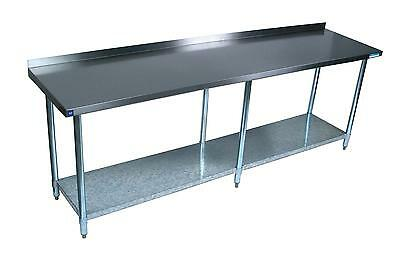 Bk Resources 72x30 Work Prep Table Stainless Top W 1.5in Backsplash Nsf