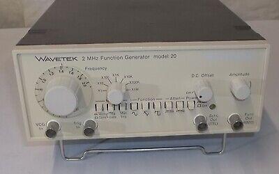 Wavetek Tabletop Rechargeable Nicd 2.1mhz Frequency Function Generator Model 20