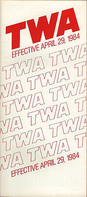 TWA system timetable 4/29/84 [308TW] Buy 2 Get 1 Free