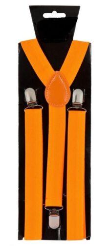 New Punk Goth Orange Suspenders Emo