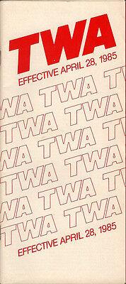 TWA system timetable 4/28/85 [308TW] Buy 2 Get 1 Free