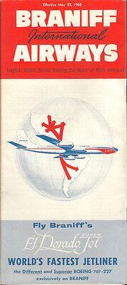Braniff International Airways system timetable 5/22/60 [5044]
