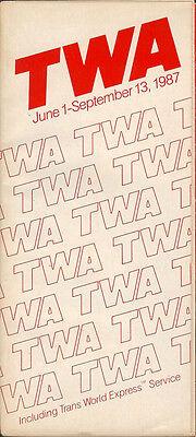 TWA system timetable 6/1/87 [308TW] Buy 2 Get 1 Free
