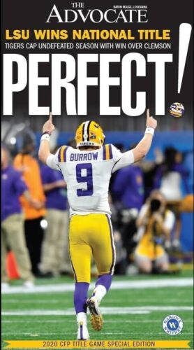 BATON ROUGE OFFICIAL 2020 NATIONAL CHAMPIONSHIP NEWSPAPER LSU TIGERS BURROW