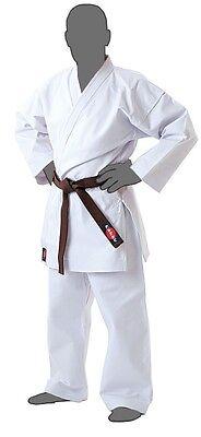 Heavyweight White Uniform (KANKU New Karate Uniform White 12 oz Heavy Weight Martial Arts )