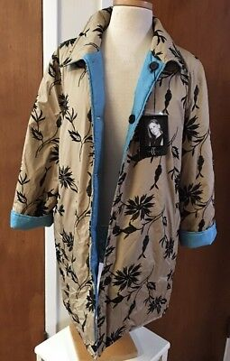 Carol Cohen Studio A-Line Reversible Rain Coat Jacket Size M NEW