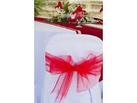 WEDDING 50P CHAIR COVER & TABLE CLOTH HIRE** Nationwide Delivery **FREE TABLE RUNNERS***