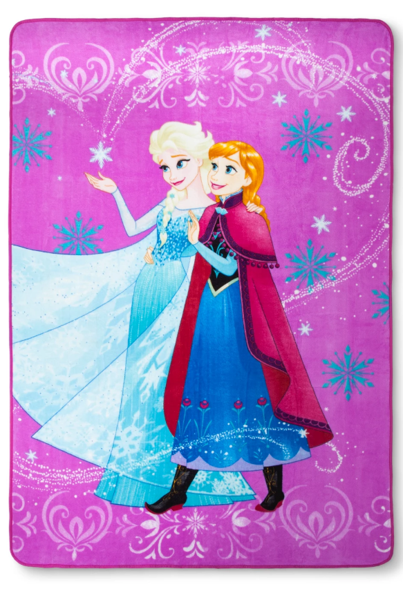 Disney Frozen Anna & Elsa Twin Size Soft Plush Bed Blanket