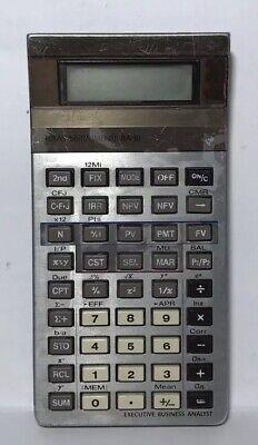 Texas Instruments BA-III Executive Business Analyst Calculator TESTED (Ti Ba Iii)