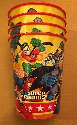 HALLMARK DC SUPER FRIENDS Party Stadium 16oz Cup Set Of 4 - Friends Party Cup Set