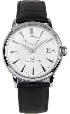Orient Star SAF02004W0 White Dial Black Leather Band Men's Watch