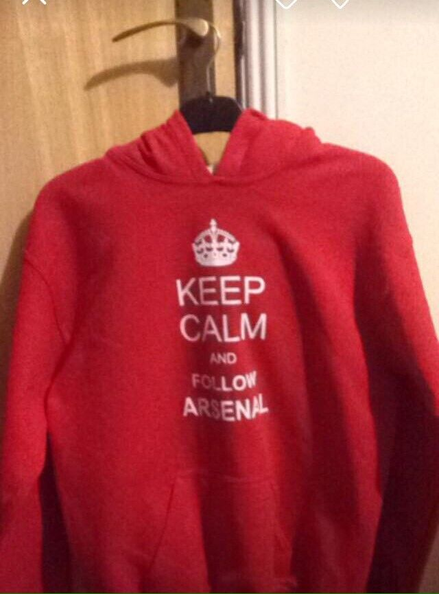 d05a7afc5 Keep calm and follow arsenal red hoodie xl youth