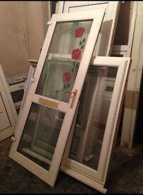 Upvc Front Door Rose Design for Sale