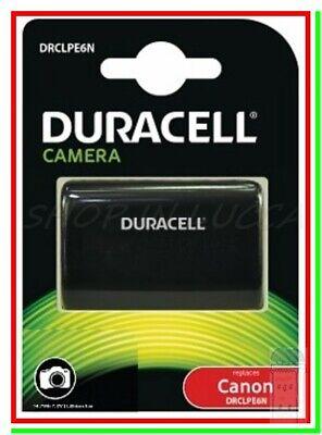 Batteria Ricaricabile DURACELL DRCLPE6N = Canon LP-E6N x EOS 7D Mk II...