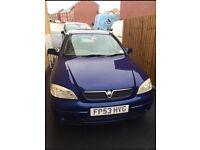 Blue Vauxhall Astra 1.6 2003